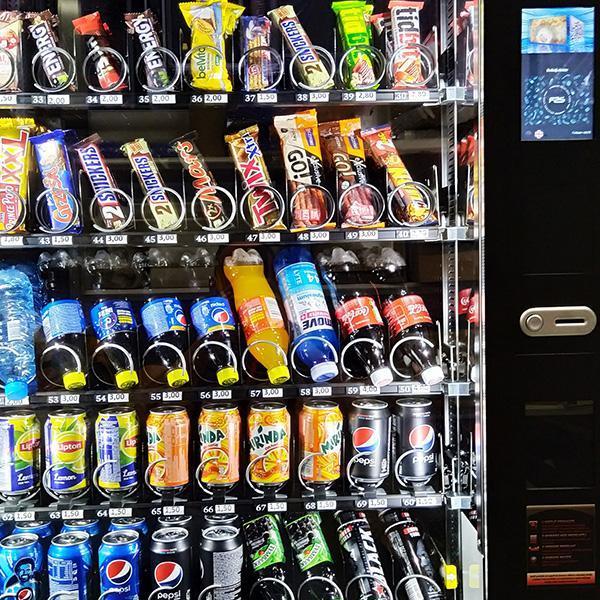 Automaty  doprzekąsek izdrowej żywności